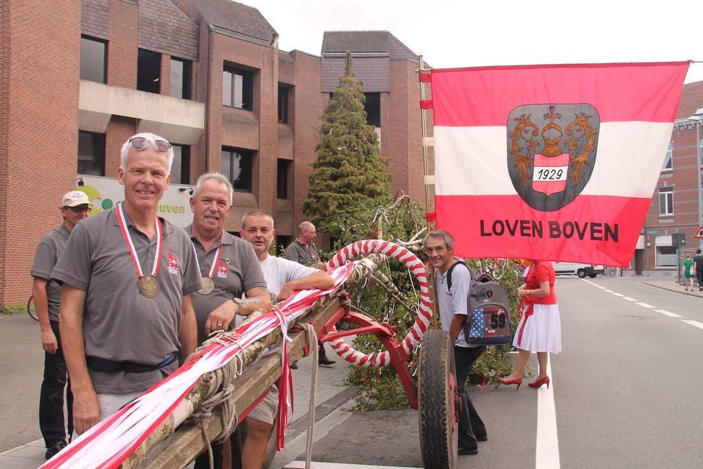 de 46 meyboom is gereed in Leuven