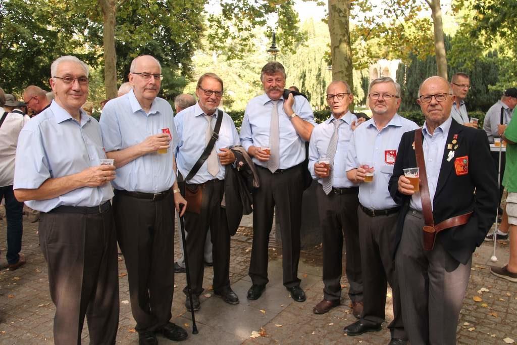 De mannen van 49 Abraham en kamerood sestig viering